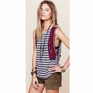 Free People 'Wear Your Sparkle' Embroidered Tank